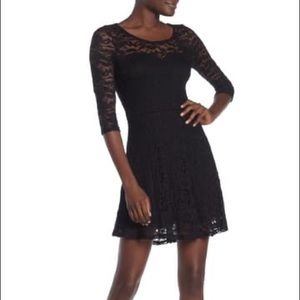 Material girl lace dress with sweetheart neckline